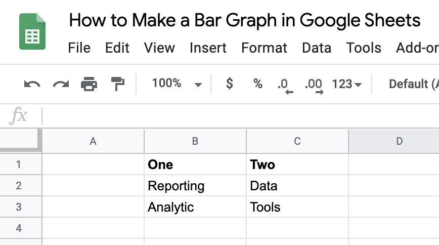 Google Sheets Table