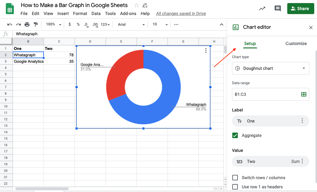 Google Sheets Graph