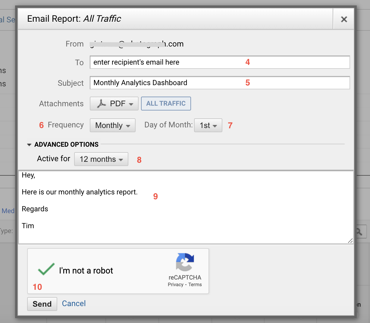 Google Analytics automated report