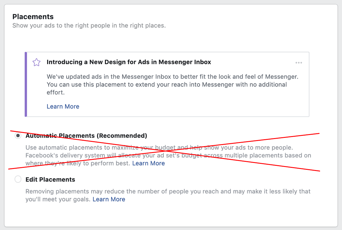 Facebook automatic placements | Whatagraph Blog