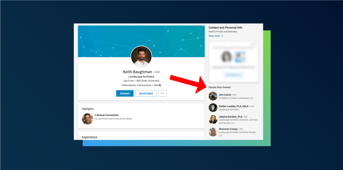 How to turn of people also viewed tab on LinkedIn