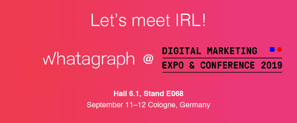 Meet Whatagraph at DMEXCO 2019