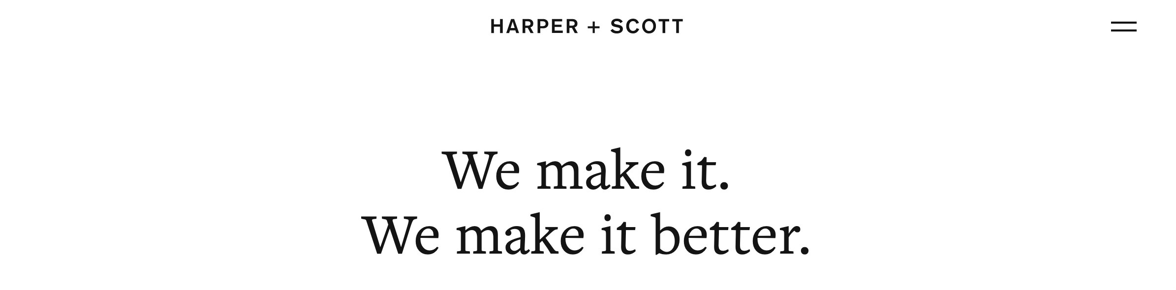 Harper + Scott agency